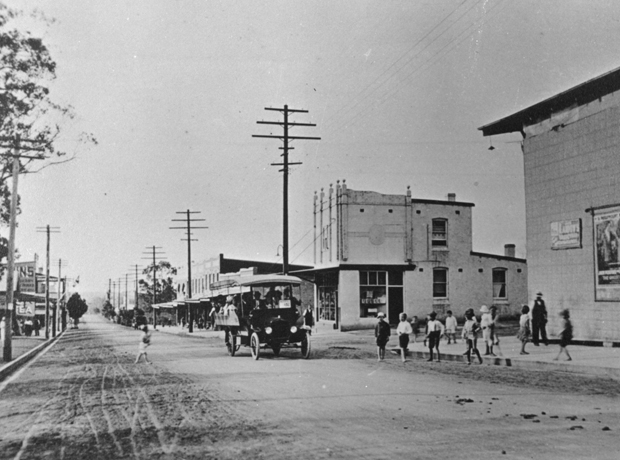 Lakemba Haldon Street looking towards Railway Station