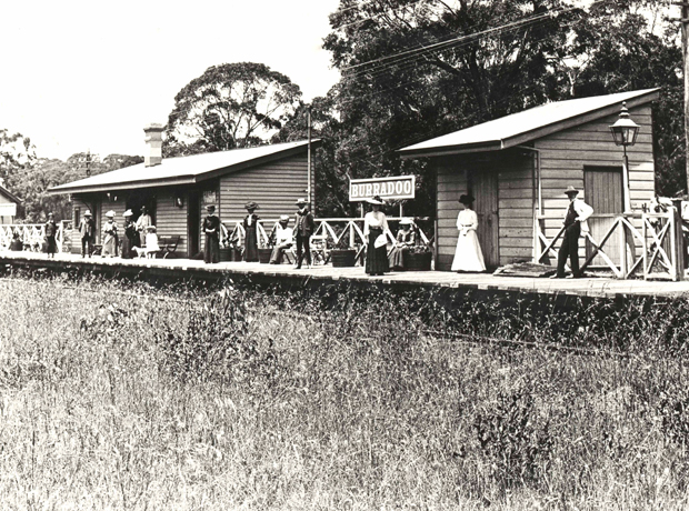 Passengers wait for train on Burradoo Railway Station