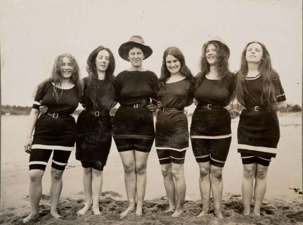 Models in Canadian swimsuits at Collaroy